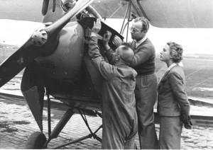 Heinz Rühmann mit der Schauspielerin Leny Marenbach - Hans Schaller